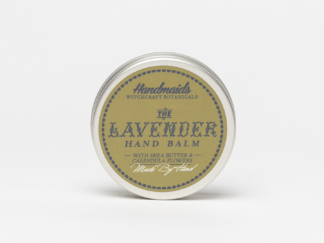 Lavender hand balm on white background