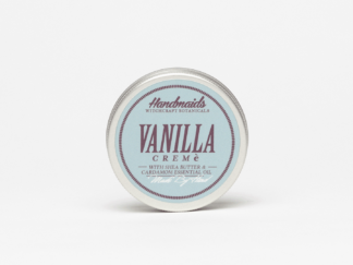 Vanilla face cream on white background