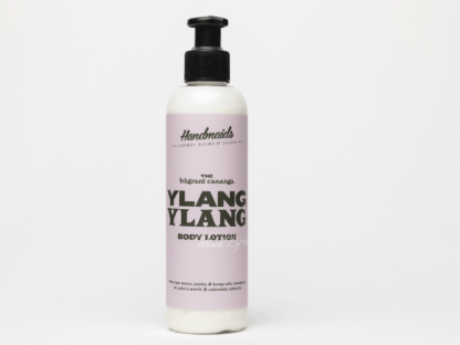 Ylang Ylang body lotion on white background